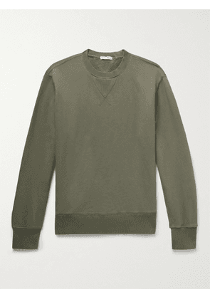 ALEX MILL - Loopback Cotton-Jersey Sweatshirt - Men - Green - XL