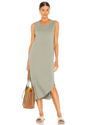 Frank & Eileen Easy Side Slit Tank Dress in Sage. Size XS, M, L.