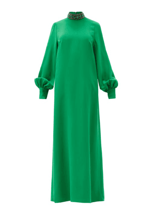 Andrew Gn - Crystal-embellished Crepe Gown - Womens - Green