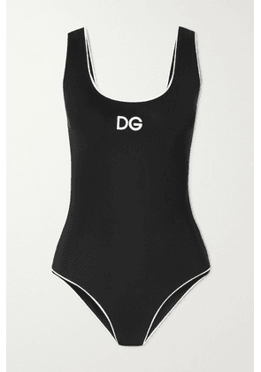 Dolce & Gabbana - Olympic Embroidered Swimsuit - Black