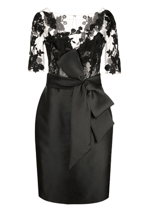 Badgley Mischka panelled fitted dress - Black