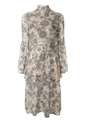 Cynthia Rowley Michelle sequin tiered dress - Neutrals