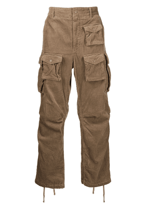 Engineered Garments corduroy cotton cargo trousers - Brown