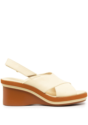 Camper Kyra 75mm leather sandals - Yellow