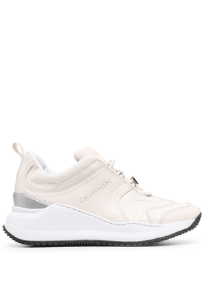 Calvin Klein leather low-top trainers - Neutrals