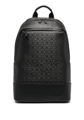 Calvin Klein logo-print recycled polyester backpack - Black