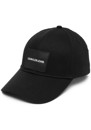Calvin Klein logo-patch cap - Black