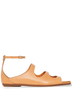 Burberry cut-out flat sandals - Brown