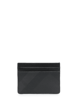 Burberry check pattern cardholder - Grey