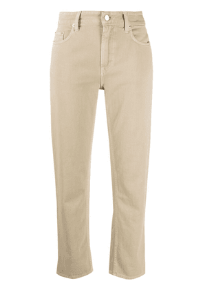 Department 5 low-rise cropped trousers - Neutrals