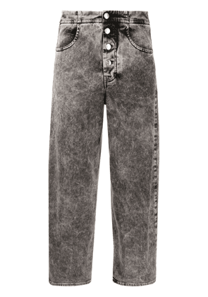 Department 5 acid-wash high-rise jeans - Grey