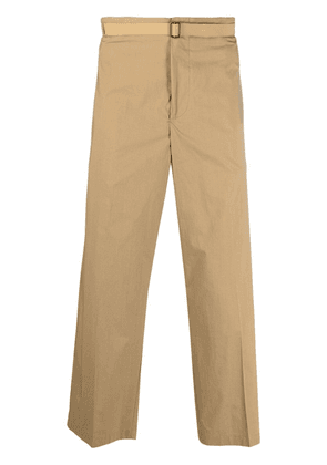 Costumein cropped straight leg trousers - Neutrals