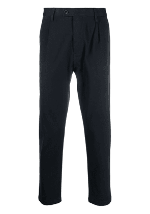 Closed pleat-detail tailored trousers - Blue