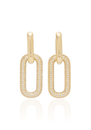 FALLON - Women's Firenze Crystal-Embellished Gold-Plated Earrings - Gold - Moda Operandi