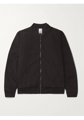 FAHERTY - Reversible Twill and Quilted Cotton-Blend Bomber Jacket - Men - Black - S