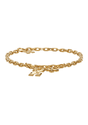 Off-White Gold Arrow Anklet