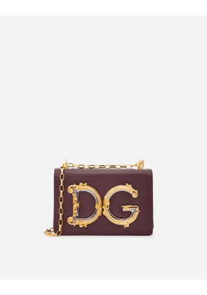 Dolce & Gabbana Shoulder and Crossbody Bags - DG Girls shoulder bag in nappa leather BORDEAUX male OneSize
