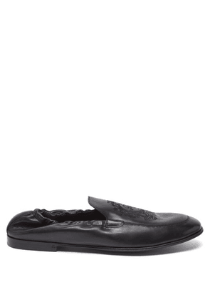 Dolce & Gabbana - Ariosto Elasticated Leather Loafers - Mens - Black