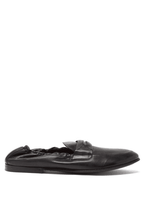 Dolce & Gabbana - Elasticated-back Leather Penny Loafers - Mens - Black