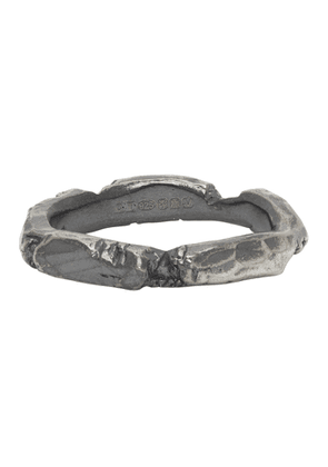 Chin Teo SSENSE Exclusive Silver Wound Ring