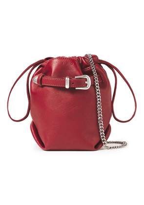Iro Belty Buckled Leather Belt Bag Woman Burgundy Size --