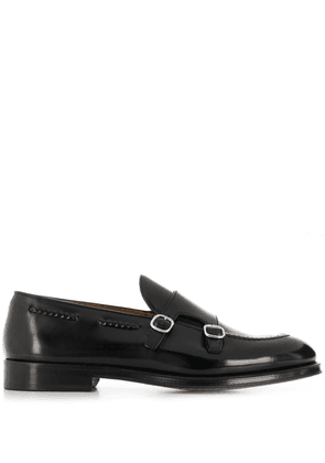 Doucal's polished monk shoes - Black