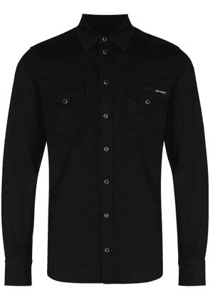 Dolce & Gabbana embossed-logo long-sleeve shirt - Black