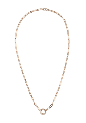 Foundrae 18kt rose gold Pyramid necklace - Pink