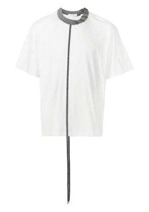 Craig Green laced cotton-jersey T-shirt - White