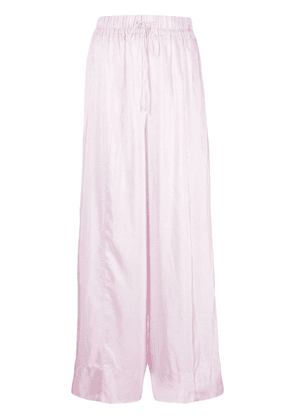 Forte Forte wide-leg silk trousers - Pink