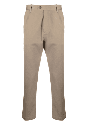 Closed pleat-detail tailored trousers - Neutrals