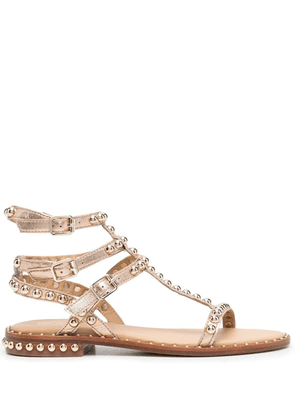 ASH Play studded leather sandals - Neutrals
