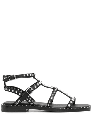 ASH Play studded leather sandals - Black
