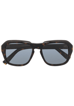 Dunhill oversize square sunglasses - Brown