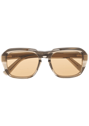 Dunhill square tinted sunglasses - Brown