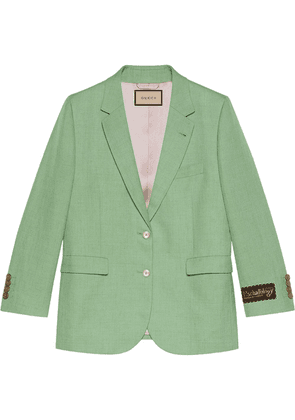 Gucci Eschatology label single-breasted jacket - Green