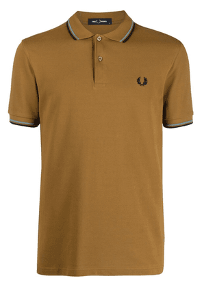 FRED PERRY twin tipped polo shirt - Brown