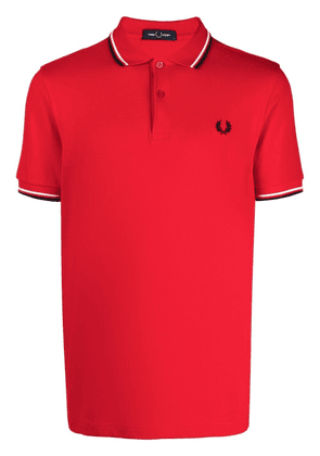FRED PERRY striped-tipping polo shirt