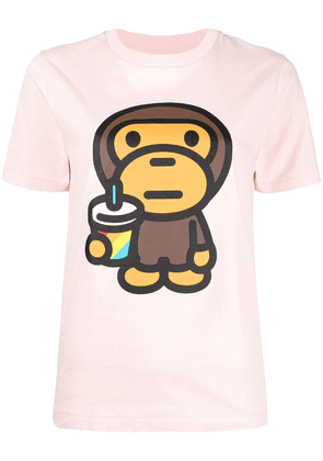 A BATHING APE® graphic print T-shirt - Pink