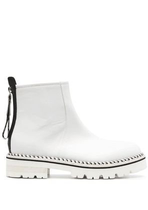 AGL contrasting-stitch boots - White