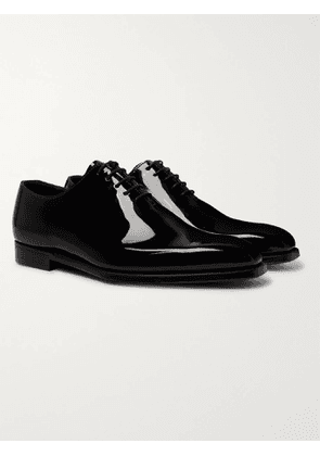 GEORGE CLEVERLEY - James Whole-Cut Patent-Leather Oxford Shoes - Men - Black - UK 6
