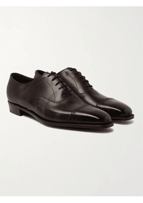 GEORGE CLEVERLEY - Nakagawa Burnished-Leather Oxford Shoes - Men - Brown - UK 7