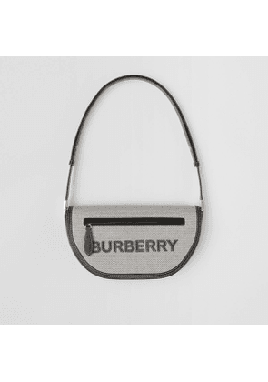Burberry Small Cotton Canvas and Leather Olympia Bag