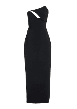 Brandon Maxwell - Women's Strapless Cutout Wool Gown - Black - Moda Operandi