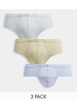 ASOS DESIGN 3 pack unstructured briefs in tonal shades-Multi