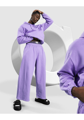 ASOS DESIGN co-ord oversized wide leg joggers in purple
