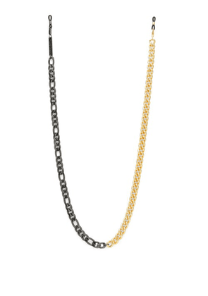 Frame Chain - Mix It Up Gold-plated Glasses Chain - Womens - Black Gold