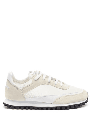 Comme Des Garçons Comme Des Garçons - X Spalwart Coated-canvas And Leather Trainers - Womens - White