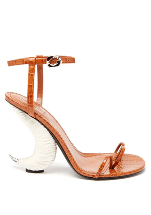 Givenchy - Horn-effect Leather Sandals - Womens - Tan