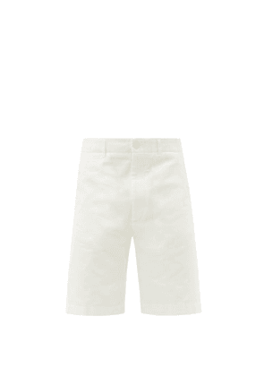 Gucci - GG-patch Cotton-twill Shorts - Mens - Cream